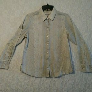 Foxcroft Button Down Shaped Shirt Wrinkle Free